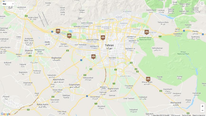 مراکز تعویض پلاک تهران