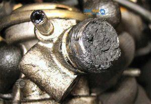 رسوب گرفتگی داخل اجزای موتور