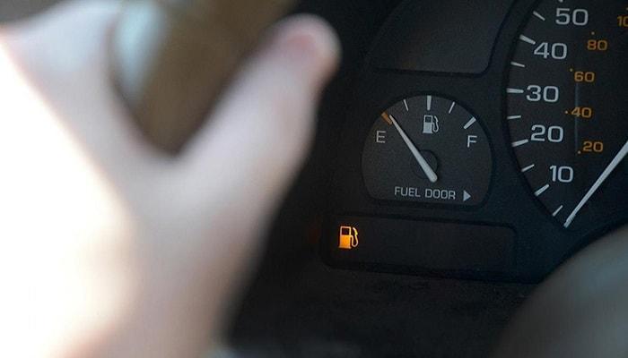 هشدار خالی شدن باک بنزین