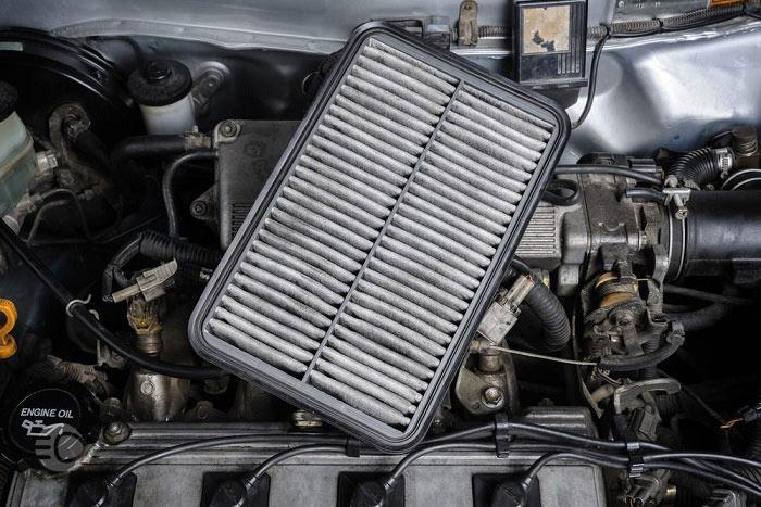 کثیفی فیلتر هوا - دلایل کاهش شتاب خودرو
