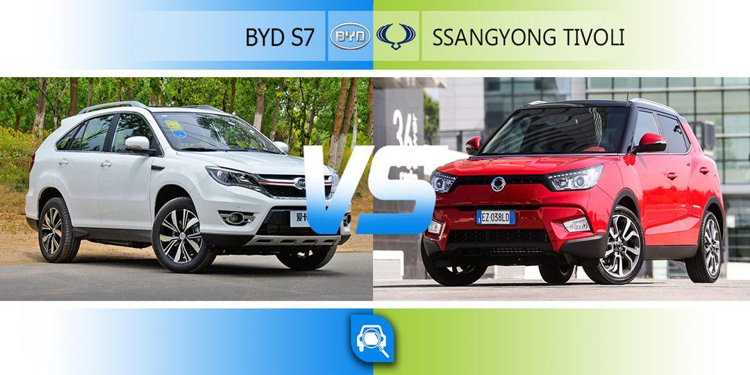 مقایسه سانگ یانگ تیوولی و بی وای دی s7