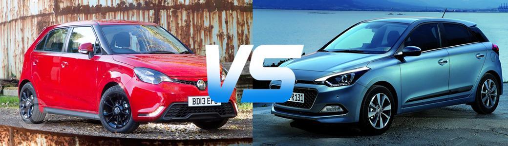 مقایسه هیوندای i20 و MG 3